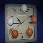 Eieruhr oder Uhr mit Eier