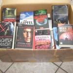 Eine Kiste Bücher