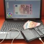 USB Geldbeutel zum Aufladen