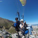 Der Gleitschirmflug am 9 Tag in Kapstadt