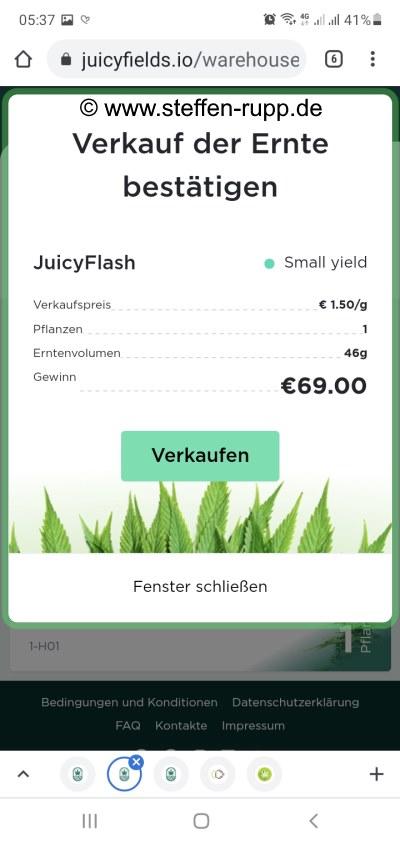 Juicyfields Auszahlung 3