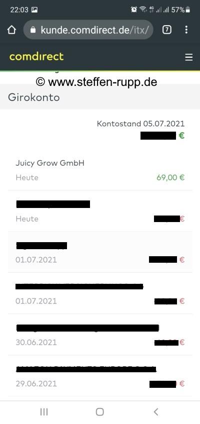 Juicyfields Auszahlung 7