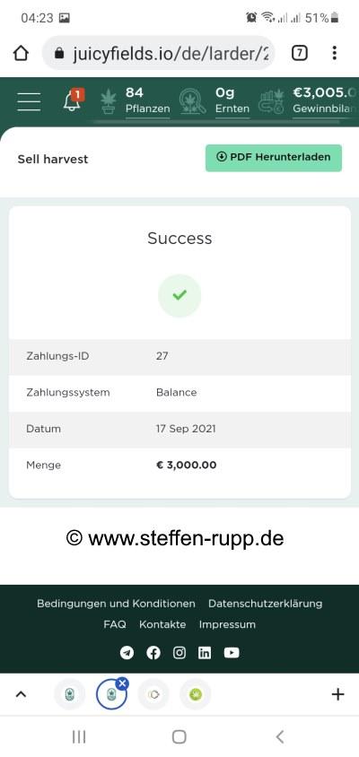 Juicyfields 3000 Euro Auszahlung 4